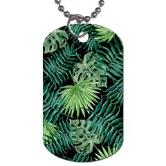 Tropical Pattern Dog Tag (one Side) by ValentinaDesign