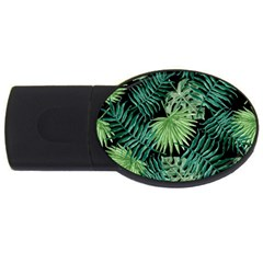 Tropical Pattern Usb Flash Drive Oval (4 Gb) by ValentinaDesign