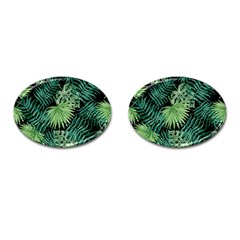 Tropical Pattern Cufflinks (oval) by ValentinaDesign