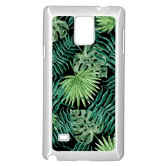 Tropical Pattern Samsung Galaxy Note 4 Case (white) by ValentinaDesign
