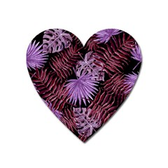 Tropical Pattern Heart Magnet by ValentinaDesign