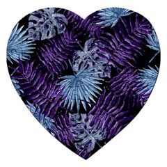 Tropical Pattern Jigsaw Puzzle (heart) by ValentinaDesign