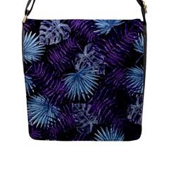 Tropical Pattern Flap Messenger Bag (l)  by ValentinaDesign
