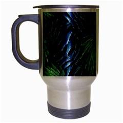 Tropical Pattern Travel Mug (silver Gray) by ValentinaDesign