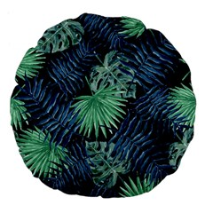 Tropical Pattern Large 18  Premium Flano Round Cushions by ValentinaDesign