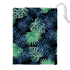 Tropical Pattern Drawstring Pouches (xxl) by ValentinaDesign