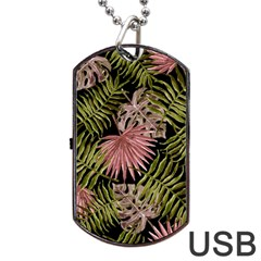 Tropical Pattern Dog Tag Usb Flash (one Side) by ValentinaDesign
