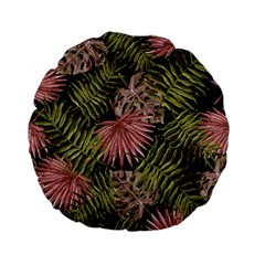Tropical Pattern Standard 15  Premium Flano Round Cushions by ValentinaDesign