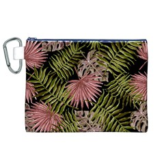 Tropical Pattern Canvas Cosmetic Bag (xl) by ValentinaDesign