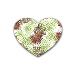 Tropical Pattern Heart Coaster (4 Pack)  by ValentinaDesign
