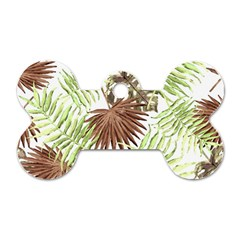 Tropical Pattern Dog Tag Bone (one Side) by ValentinaDesign
