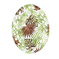 Tropical Pattern Oval Filigree Ornament (two Sides) by ValentinaDesign