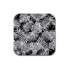 Tropical Pattern Rubber Coaster (square)  by ValentinaDesign
