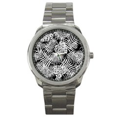 Tropical Pattern Sport Metal Watch by ValentinaDesign