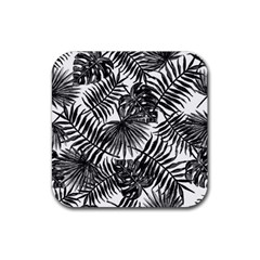 Tropical Pattern Rubber Coaster (square)