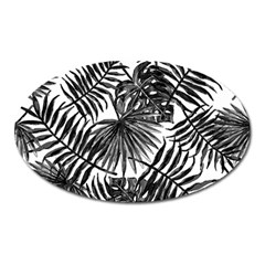 Tropical Pattern Oval Magnet by ValentinaDesign