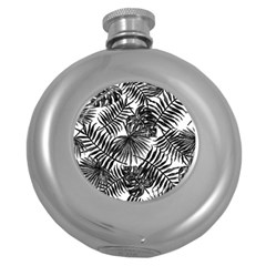 Tropical Pattern Round Hip Flask (5 Oz) by ValentinaDesign