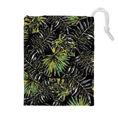 Tropical Pattern Drawstring Pouches (extra Large) by ValentinaDesign