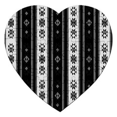 Folklore Pattern Jigsaw Puzzle (heart) by ValentinaDesign