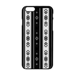 Folklore Pattern Apple Iphone 6/6s Black Enamel Case by ValentinaDesign