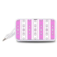 Folklore Pattern Portable Speaker (white)