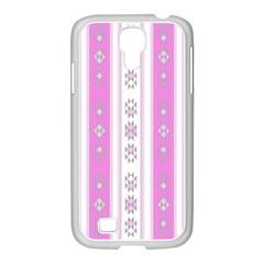 Folklore Pattern Samsung Galaxy S4 I9500/ I9505 Case (white) by ValentinaDesign