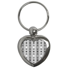 Folklore Pattern Key Chains (heart)  by ValentinaDesign