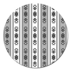 Folklore Pattern Magnet 5  (round) by ValentinaDesign