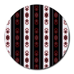 Folklore Pattern Round Mousepads by ValentinaDesign
