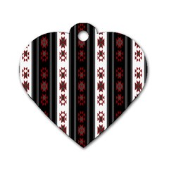 Folklore Pattern Dog Tag Heart (one Side) by ValentinaDesign