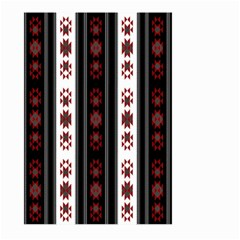 Folklore Pattern Large Garden Flag (two Sides) by ValentinaDesign
