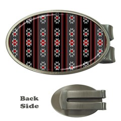Folklore Pattern Money Clips (oval)  by ValentinaDesign