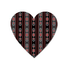 Folklore Pattern Heart Magnet by ValentinaDesign
