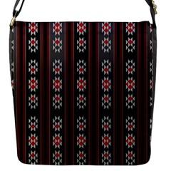 Folklore Pattern Flap Messenger Bag (s) by ValentinaDesign