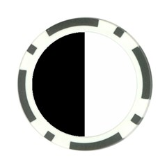 Black And White Poker Chip Card Guard by Valentinaart