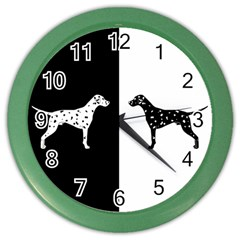 Dalmatian Dog Color Wall Clocks by Valentinaart