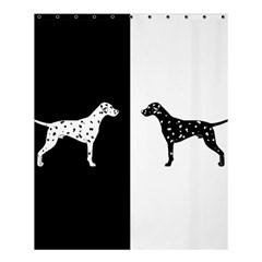Dalmatian Dog Shower Curtain 60  X 72  (medium)  by Valentinaart