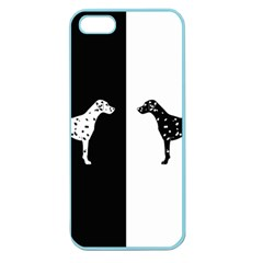 Dalmatian Dog Apple Seamless Iphone 5 Case (color) by Valentinaart