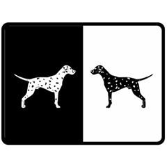 Dalmatian Dog Double Sided Fleece Blanket (large)  by Valentinaart