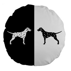 Dalmatian Dog Large 18  Premium Flano Round Cushions by Valentinaart