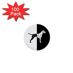 Dalmatian Dog 1  Mini Buttons (100 Pack)  by Valentinaart