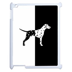 Dalmatian Dog Apple Ipad 2 Case (white) by Valentinaart