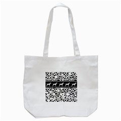 Dalmatian Dog Tote Bag (white) by Valentinaart