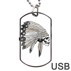 Indian Chef  Dog Tag Usb Flash (one Side) by Valentinaart