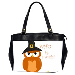 Halloween Orange Witch Owl Office Handbags (2 Sides)  by Valentinaart