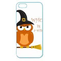 Halloween Orange Witch Owl Apple Seamless Iphone 5 Case (color) by Valentinaart