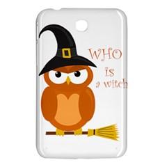 Halloween Orange Witch Owl Samsung Galaxy Tab 3 (7 ) P3200 Hardshell Case  by Valentinaart