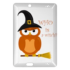 Halloween Orange Witch Owl Amazon Kindle Fire Hd (2013) Hardshell Case by Valentinaart