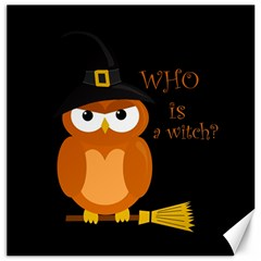 Halloween Orange Witch Owl Canvas 20  X 20   by Valentinaart