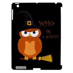 Halloween Orange Witch Owl Apple Ipad 3/4 Hardshell Case (compatible With Smart Cover) by Valentinaart